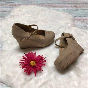 Shoes - Rue 21 Tan Wedge Heels